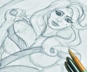Geisha Rough Sketch